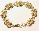 Silver and Gold Butterflies Chainmaille Bracelet