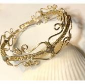 Gold Victorian Style Wire Wrap Bracelet