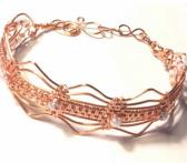 Copper Wire Wrap Scalloped Edge Bracelet