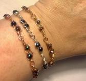 Beaded Infinity Links Bracelet