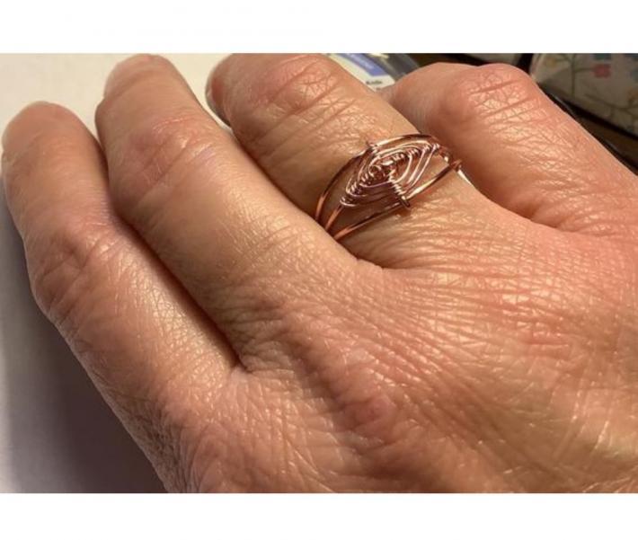 Copper Gods Eye Ring