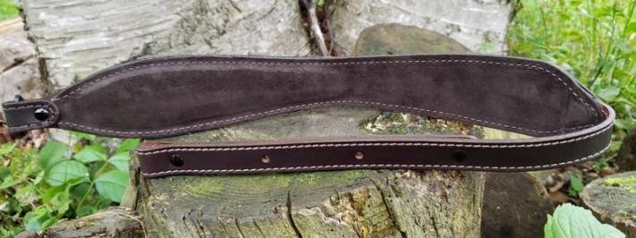 Hand Tooled British Tan Rifle Sling Basket Weave