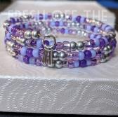 Pretty Purple Memory Bracelet