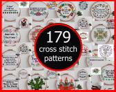 179 Cross Stitch Patterns  Instant download PDF