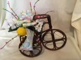 Easter Centerpiece with Antique Tricycle