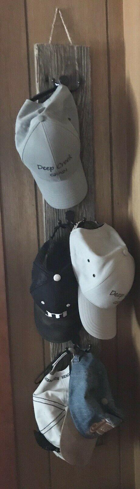 Reclaimed Barn Wood Vertical Double Hooks for Caps Hats Purses etc Rustic