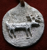Handcast Pewter Cave Deer Pocket Token
