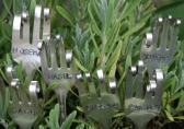 Herb Garden Markers Hand Stamped Vintage Forks