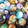 50 orphan spacer beads lampwork glass grab bag sra