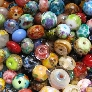 50 orphan spacer beads lampwork glass grab bag sra