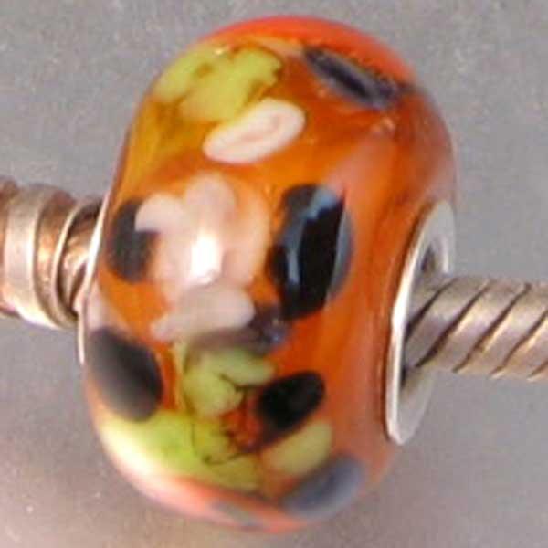 Halloween Pandora Lampwork Universal Charm Bead
