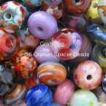 25 Orphan Lampwork Spacer Beads Grab Bag