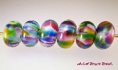 Lampwork Bead Spacer Bead Cathedral Windows SRA B 195