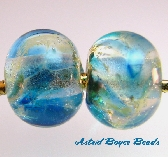 Glass Lampwork Bead Set Made To Order  Glacier Bay Cruise  SRA B 195