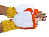 Candy Corn Convertible Mittens