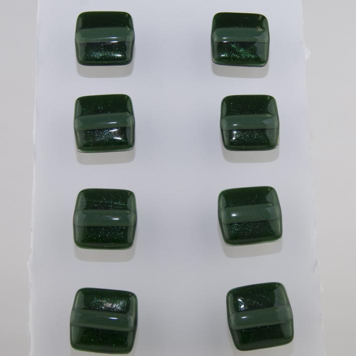 Cabinet Knobs Green Adventurine Fused Glass set of 8