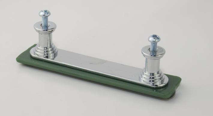 Cabinet Drawer Pulls Green with White and Adventurine Fused Glass set of 4