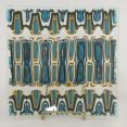 Turquoise Pattern Bar Plate Fused Glass