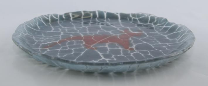 Misshepezhieu Pictograph Fused Glass Plate