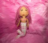 Hand Sewn Fabric Mermaid Dolls