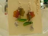 Flowers and Leaves Earrings