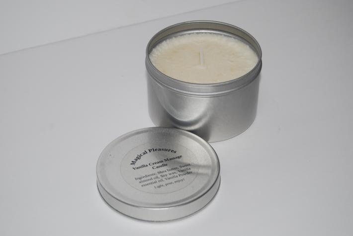 Vanilla cream massage candle