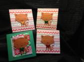 Pet Christmas Cards Red Cat
