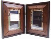 Hinged Wood Folding Frames with Custom Mats