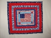 QUILTED  FLAG THROW