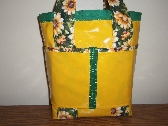 QUILTED OILCLOTH BEACH BAG