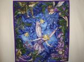 FAIRY  CHILDREN  QUILTED  WALLHANGING