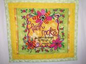FAITH  ROCKS  QUILTED  MINI  WALLHANGING