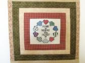EMBROIDERED  HOME is  WHERE  the  HEART  IS Quilted Table Topper