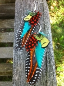 Bright and colorful Feather Earrings