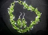 Lime Green and White Cha Cha Set