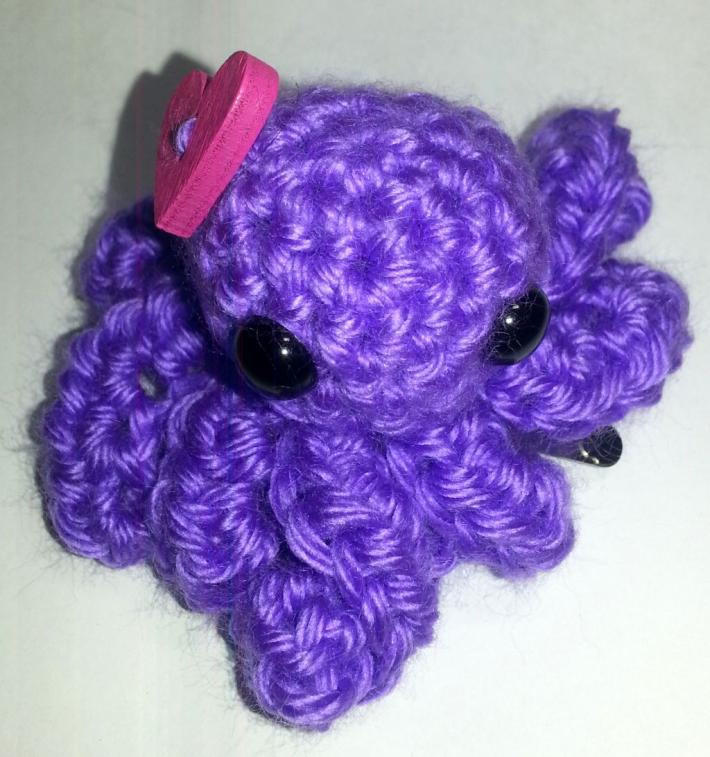 Purple Love Octopus