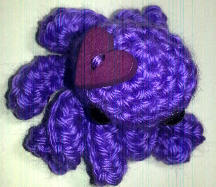 Purple with Purple Heart Love Octopus
