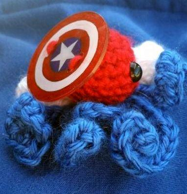 Captain America Octopus Clip