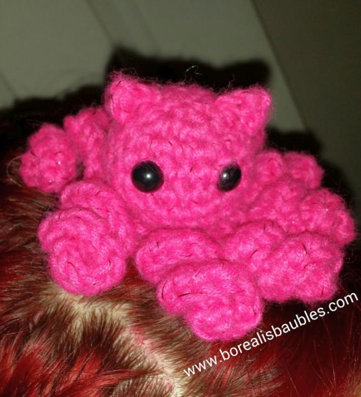Pink Octopussy Hair Clip