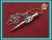 Steampunk jewelry bullet pendant