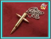 Steampunk jewelry bullet pendant cross