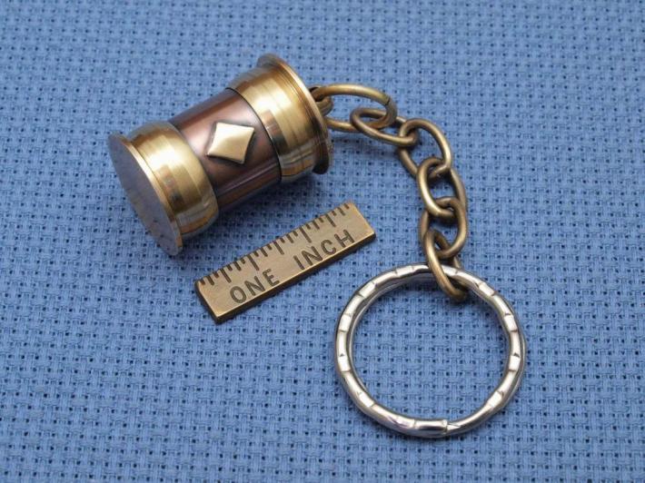 Steampunk secret stash keychain antique style