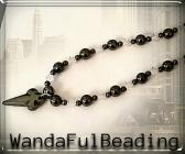 Black Hematite and Swarovski Crystal Beaded Pendant Necklace