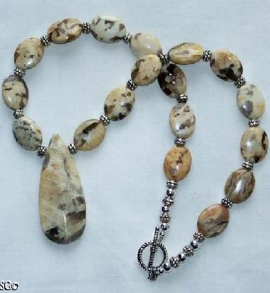 SALE Beautiful and Unique Feldspar Gemstone Necklace