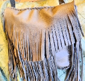Leather Fringed Purse