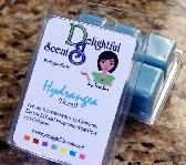Hydrangea scented soy tart bars