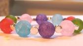 Rainbow Bracelet in Crackle Quartz