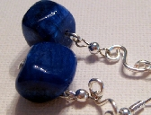 Chunky Blue Stone Earrings