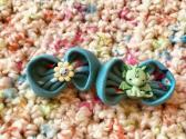 Hair Bow Set Dragon Flower
