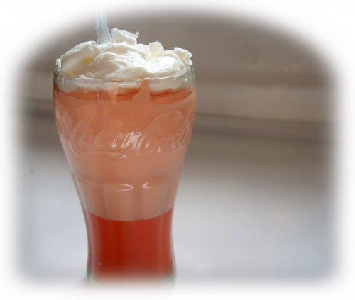 orange sherbet soap float